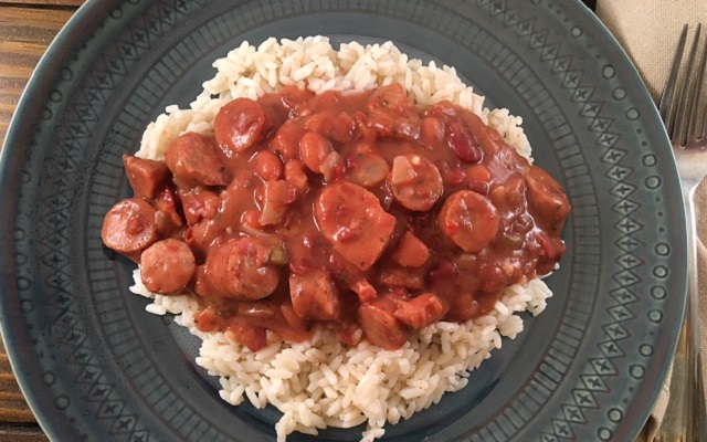 Quick and Easy Red Beans and Rice with Sausage