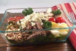 steak and blue cheese salad mealprep lifeloveandblog