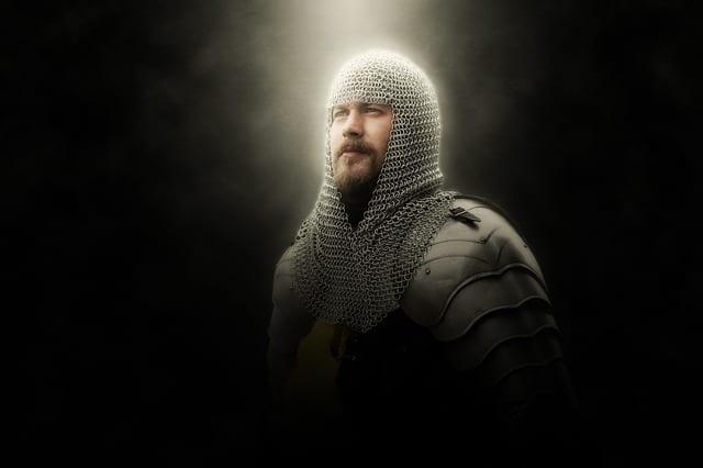 Wife knight shiny armor