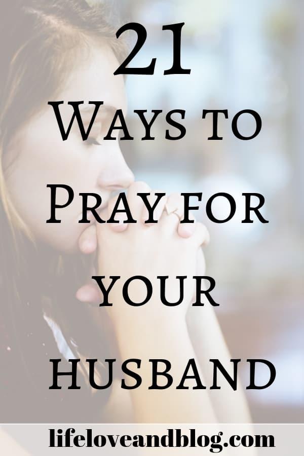 woman praying for her husband