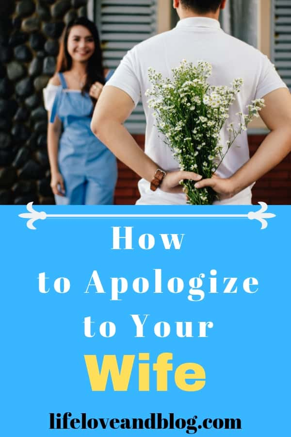 apologize to your wife
